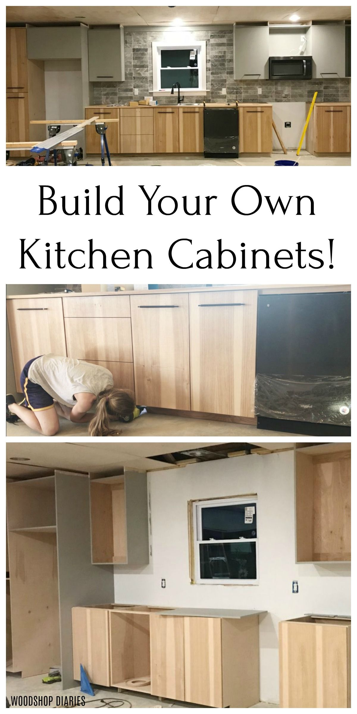 Diy Kitchen Cabinets Made From Only Plywood In 2020 Simple Woodworking Plans Diy Kitchen Cabinets Woodworking Cabinets
