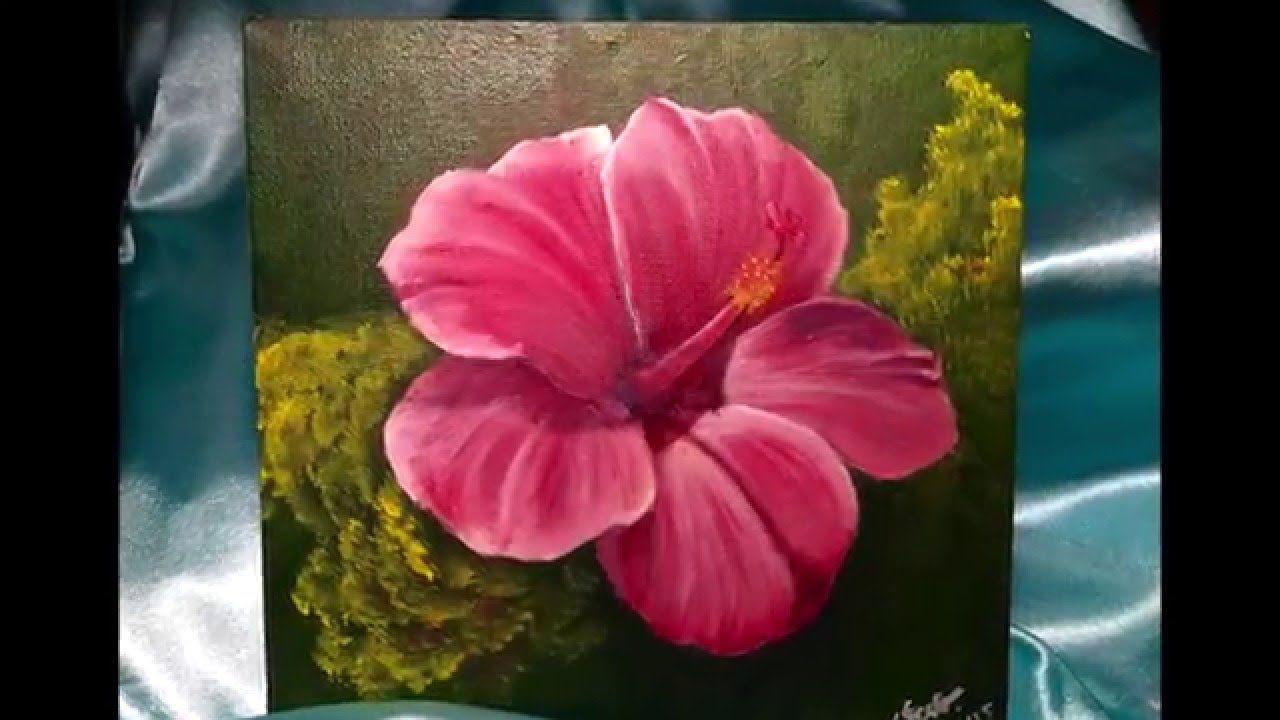 Acrylic Painting Hibiscus Flower Flower Art Flower Painting Art Tutorials Acrylic
