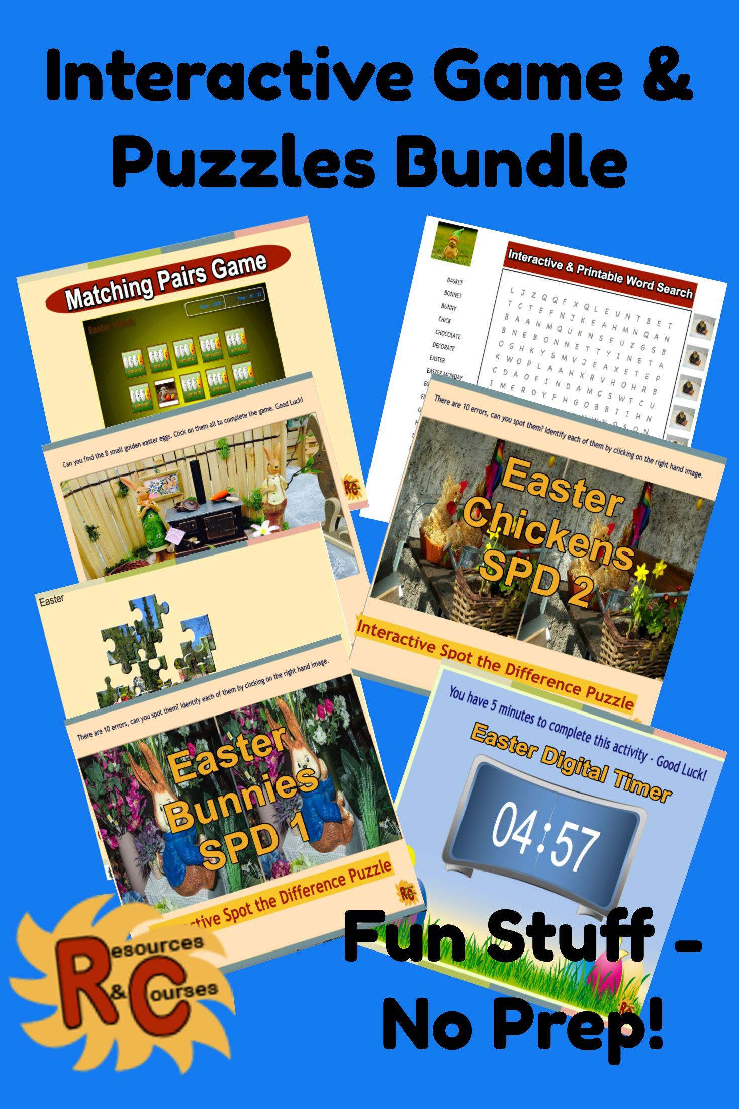 Easter Activities Bundle Interactive Games & Puzzles