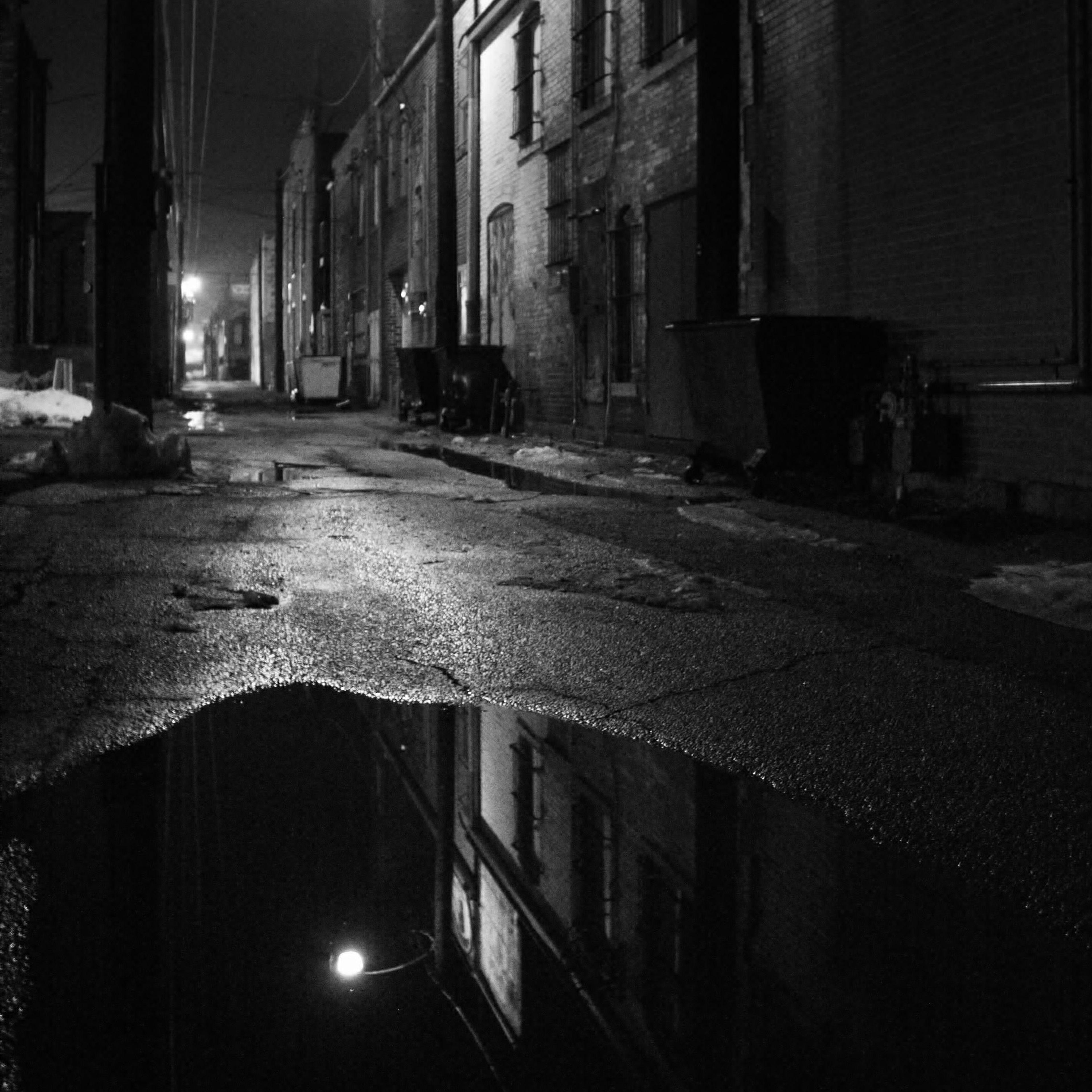 Alley on a foggy night photo by j heintz21