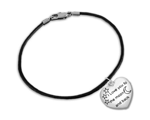 "Buy ""I Love You To The Moon And Back"" Bracelet for Mental Health Awareness at The House of Awareness for only $ 12.99"