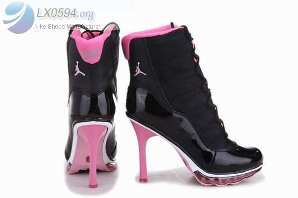 Air Jordan 11 High Heels Black Pink