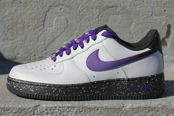 info for 9477e a0f4a Nike Air Force 1 Low Speckle Wolf Grey Court Purple 488298 060 Nike Air  Force Low