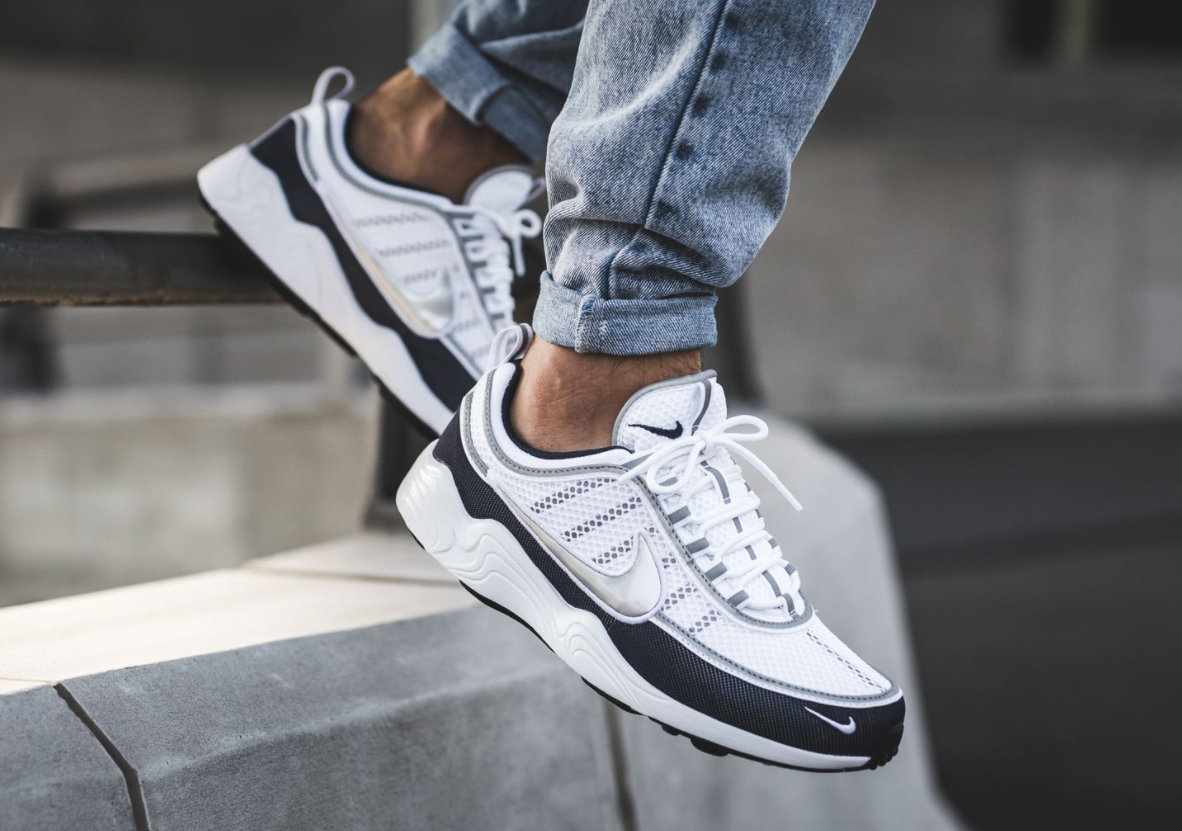 e5ff9036041c Now Available  Nike Air Zoom Spiridon White Armory Navy