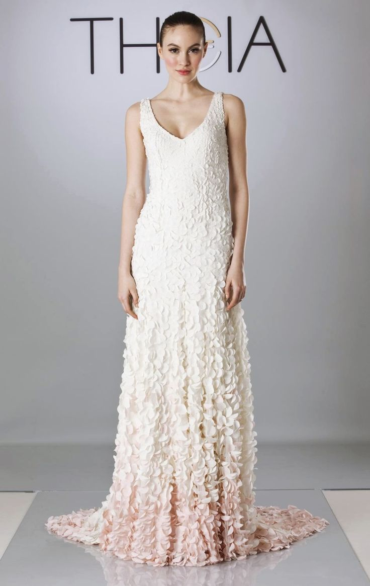 Cherry blossom Ombre Petal Gown from Theia Bridal | Cherry blossom ...