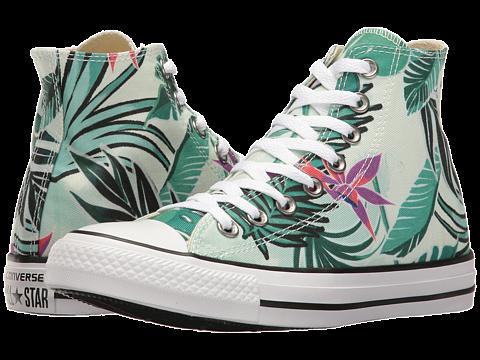 47c8a940f57fa Converse Chuck Taylor® All Star® Tropical Print Hi Fiberglass Menta White -  Zappos.com Free Shipping BOTH Ways
