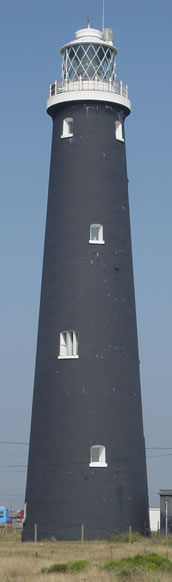 The lighthouse at Dungeness on the English Channel
