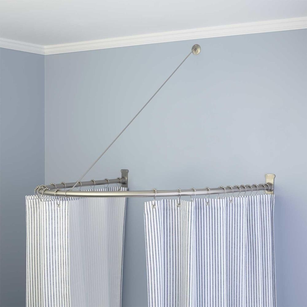 Naiture Brass Half Oval Shower Curtain Rod In 2 Sizes And 4 Finishes