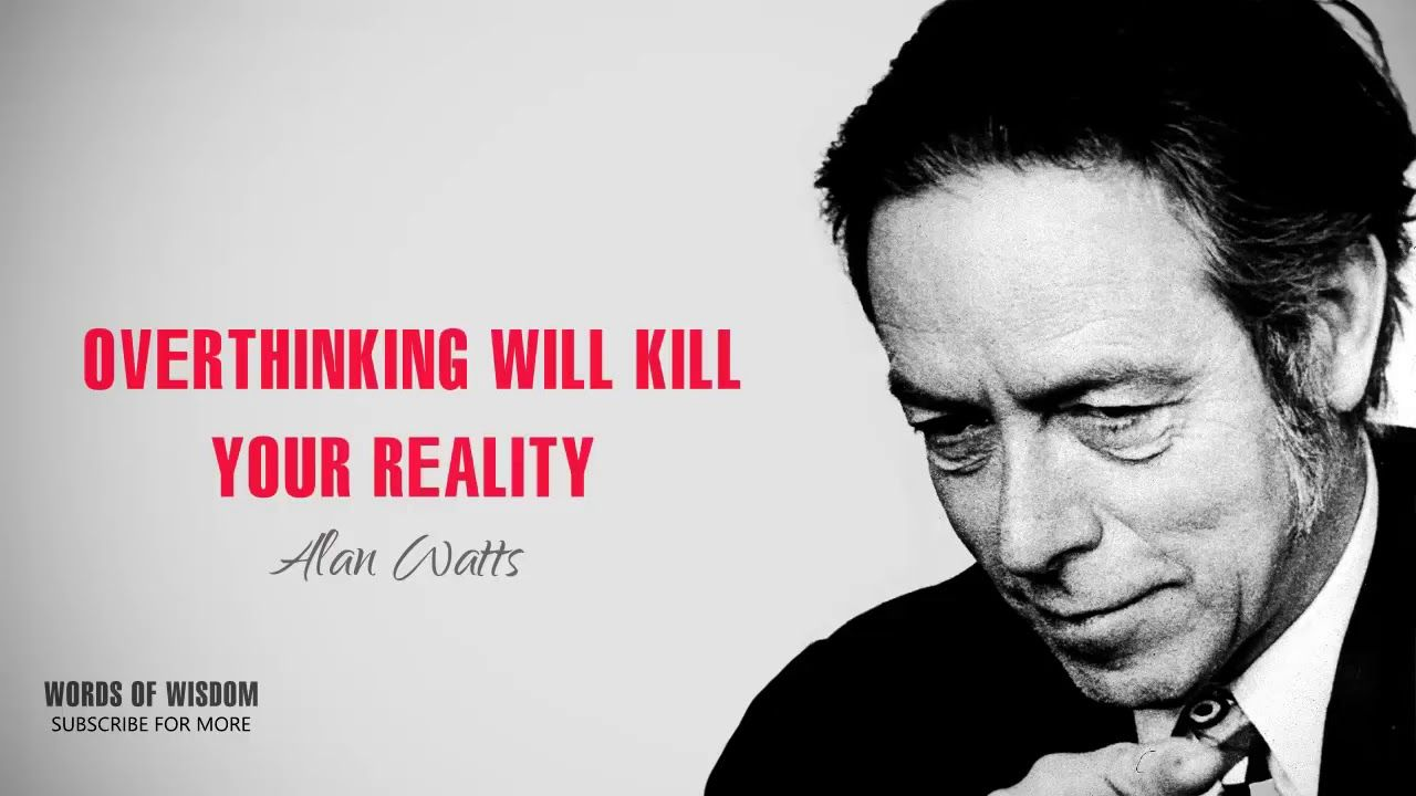 Alan Watts Libros Alan Watts Overthinking Will Kill Your Reality The Best Therapy By
