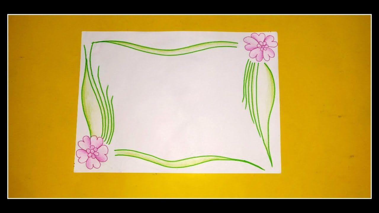 Floral Border Design On Paper Border Design For Project File Border Des Floral Border Design Colorful Borders Design Page Borders Design