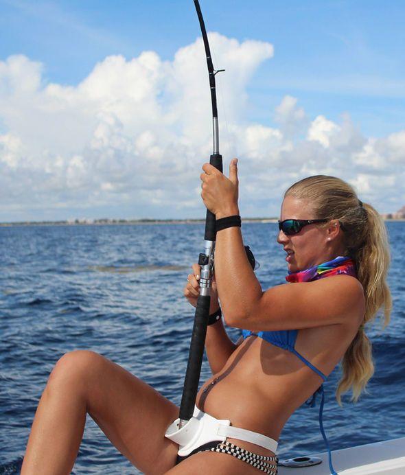 Deep sea fishing bikini pics