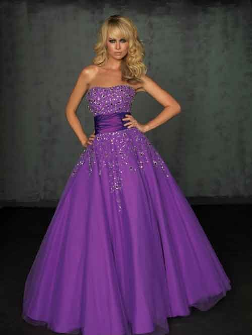 Neat Purple Wedding Dress Picture Newest Gallery