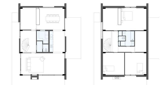 Plattegrond custom prefab woning ontwerp huis for Ontwerp plattegrond