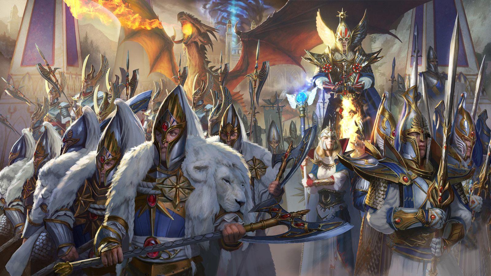 total war warhammer 2 high elves key art diego gisbert llorens on