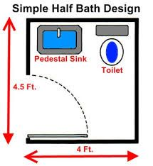 Half Bath Dimensions Google Search Bathroom Floor Plans Guest