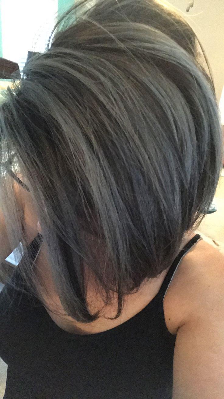 Silver grey and ash brown hair shade Silver hair Grey hair Jolie ...