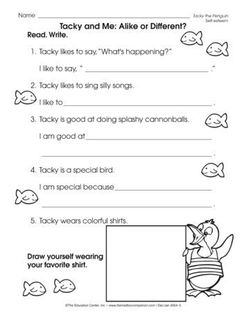 Tacky And Me Alike Or Different Lesson Plans The Mailbox Tacky The Penguin Tacky 2nd Grade Reading