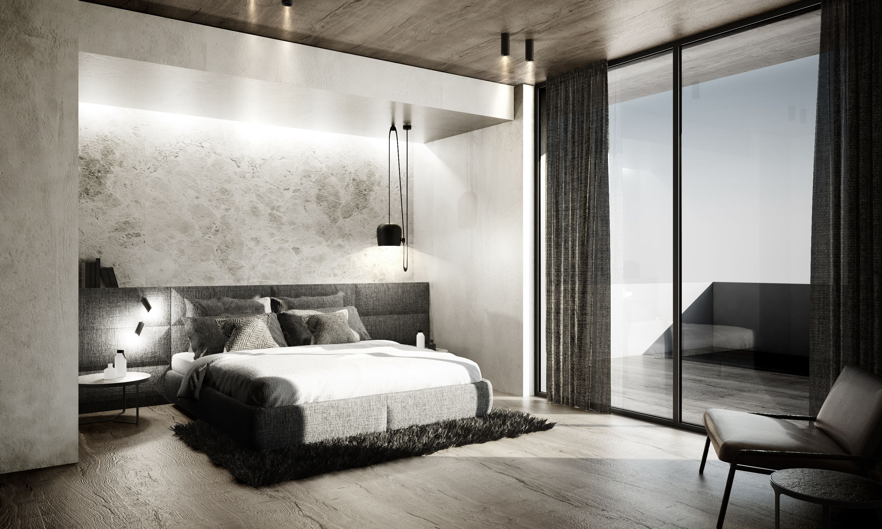 Giacuzzoarchitects #Interiordesign#Masterbedroom#Texture#Materials#Finishes#Marble#Stone#