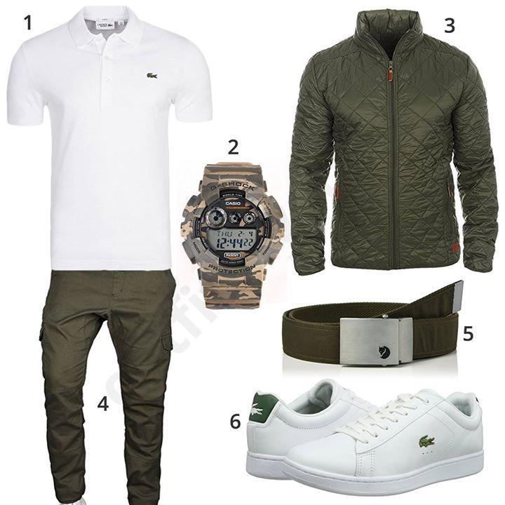 Grüner Herren Style mit Solid Hoodie und Übergangsjacke