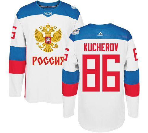 Team Russia 86 Nikita Kucherov White 2016 World Cup Stitched Nhl Jersey Nhl Jerseys Nhl Nhl Apparel