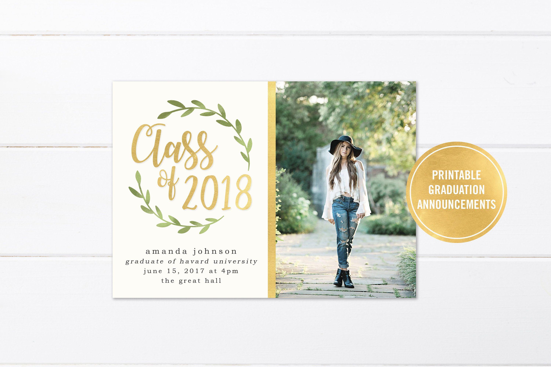 College Graduation Invitation Printable Or Printed High School