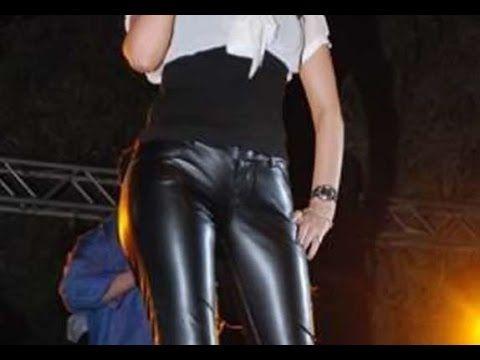 فنانات عرب ارتدوا البنطلون الجلد الضيق ليظهروا مفاتنهم وانوثتهم Leather Pants Pants Fashion