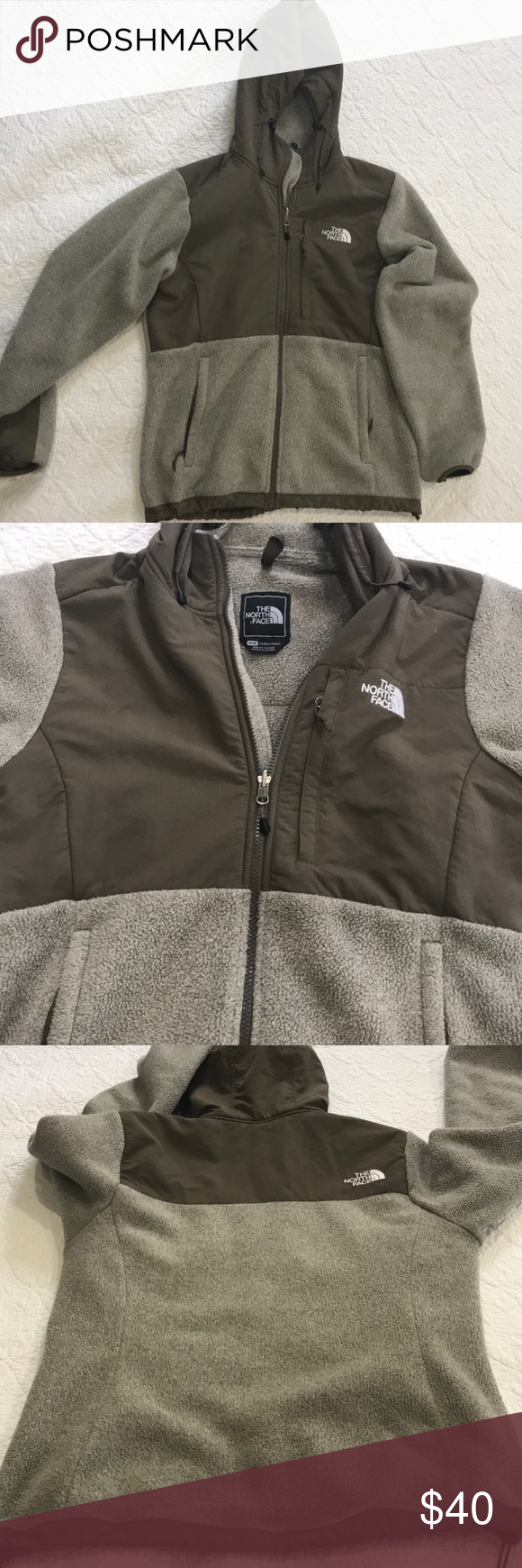 The North Face Jacket Brown Cream Color I Purchased This Jacket On Marketplace But Its A Little Bigger Than I Like It North Face Jacket The North Face Jackets [ 1740 x 580 Pixel ]