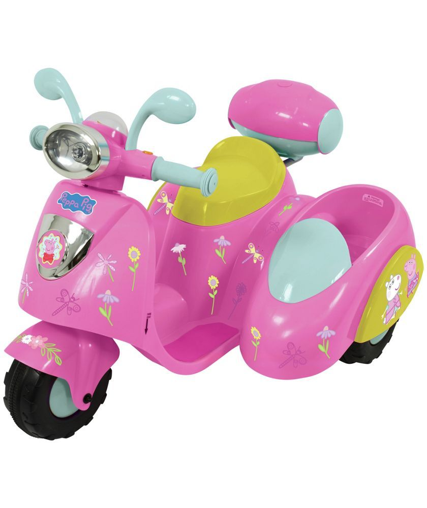 Buy Peppa Pig 6v Ride On Bike With Side Car At Argos Co Uk Your