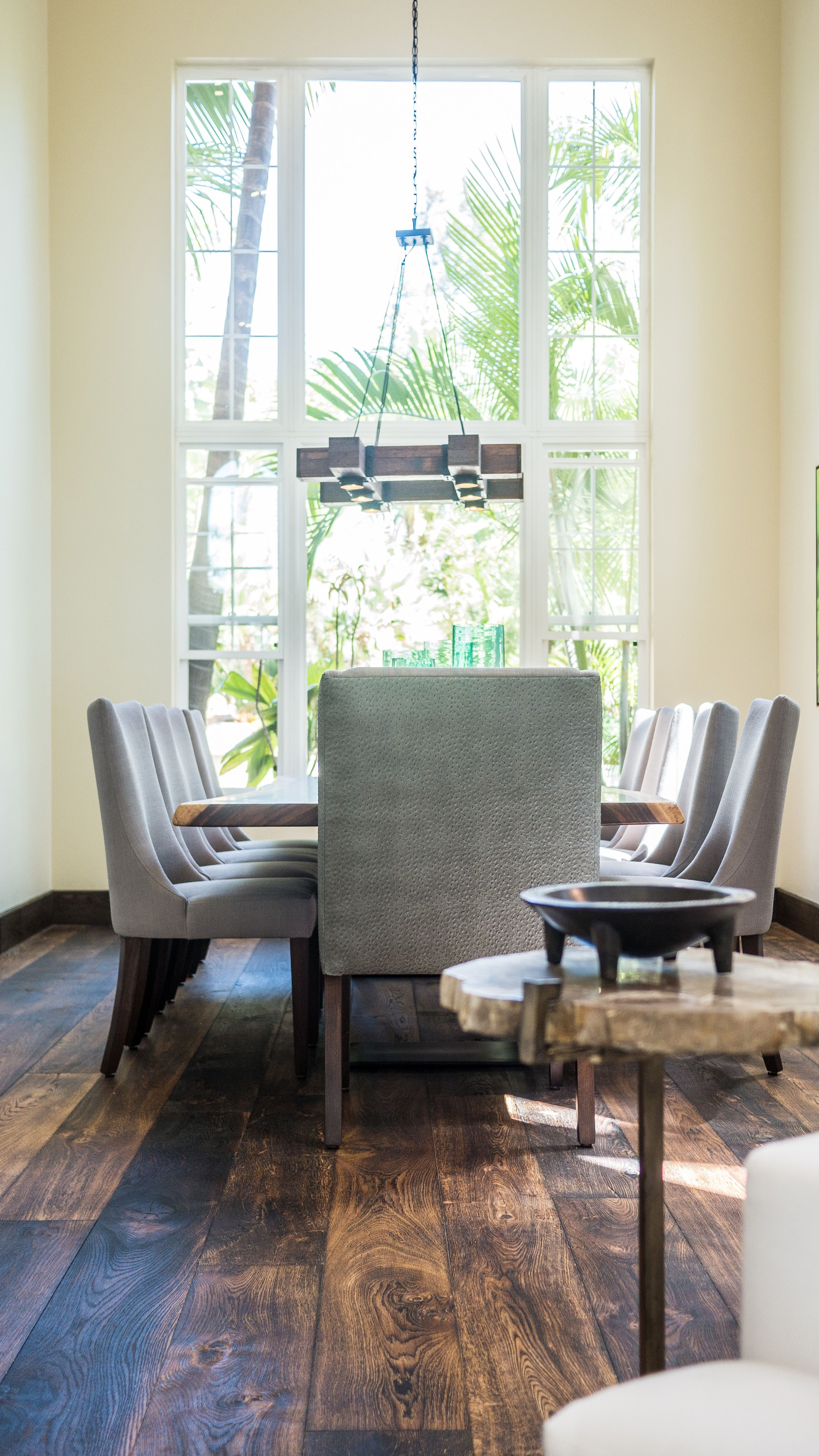 Modern Paradise - Kathy Ann Abell Interiors   San Diego, Califronia   Dining Room   Reclaimed Wood   Petrified Wood
