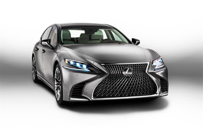 Download Wallpapers Lexus Ls 500 2018 Front View Luxury Car Chrome Japanese Cars Ls500 2018 Lexus Besthqwallpapers Com Carros De Luxo Carros Carros Incriveis