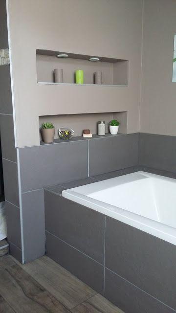 salle de bain moderne design niche intégré spot | Haus | Pinterest ...