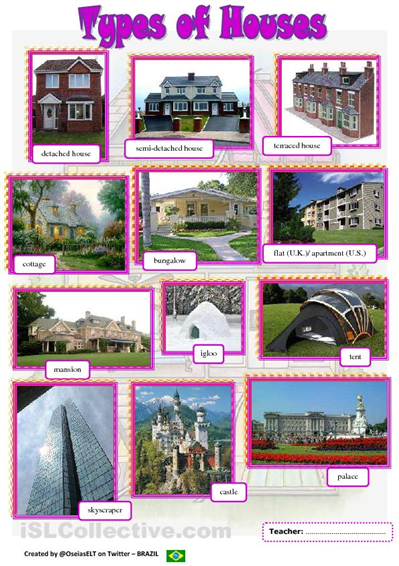 Types of homes types of houses pictionary hope it s for Different kinds of houses