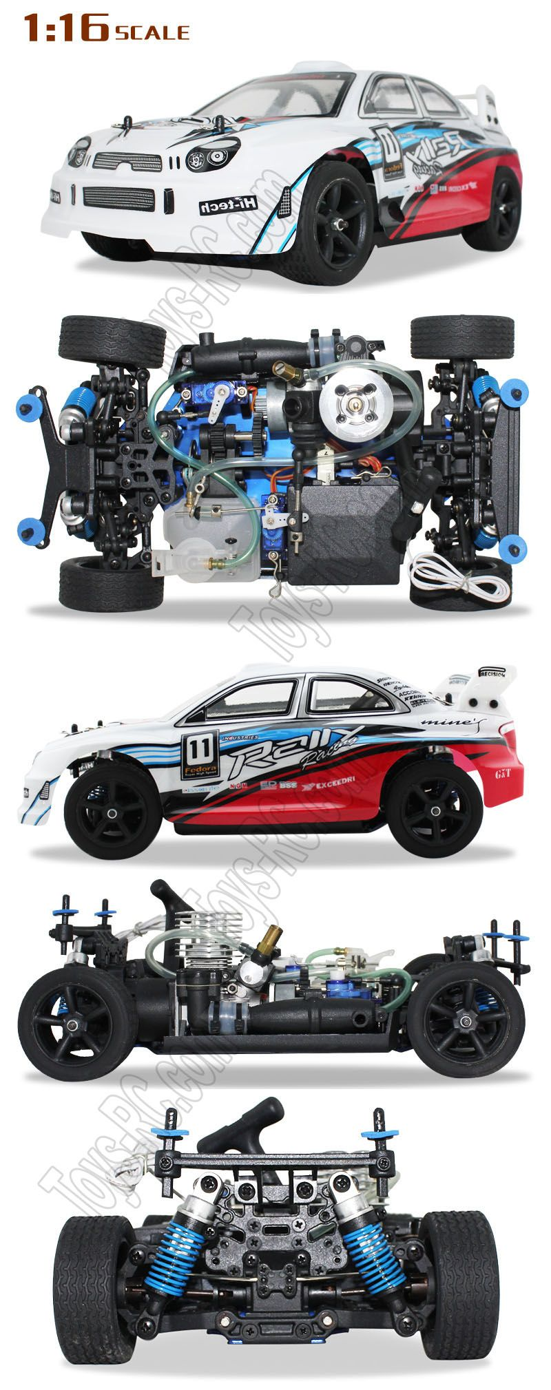 Victory Hawk VHZ16 116 4WD Nitro RC Gas Racing Car http