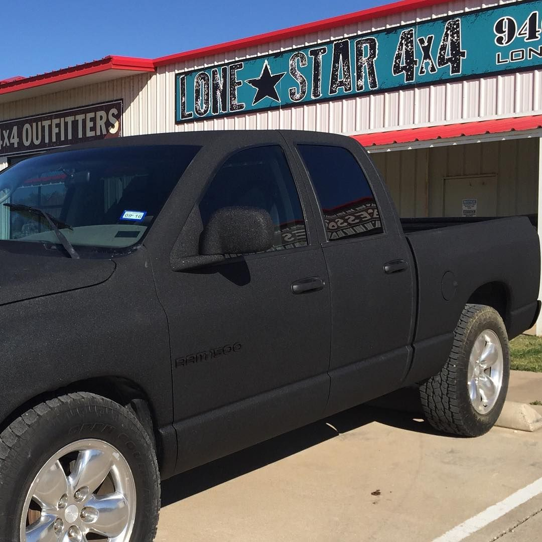 Lone Star 4x4 Customs On Instagram 2004 Ram 1500 Custom Sprayed In Satin Black Ram Truck Follow Lonestar4x4 Sp Ram 1500 Custom Ram Trucks 1500 Lone Star