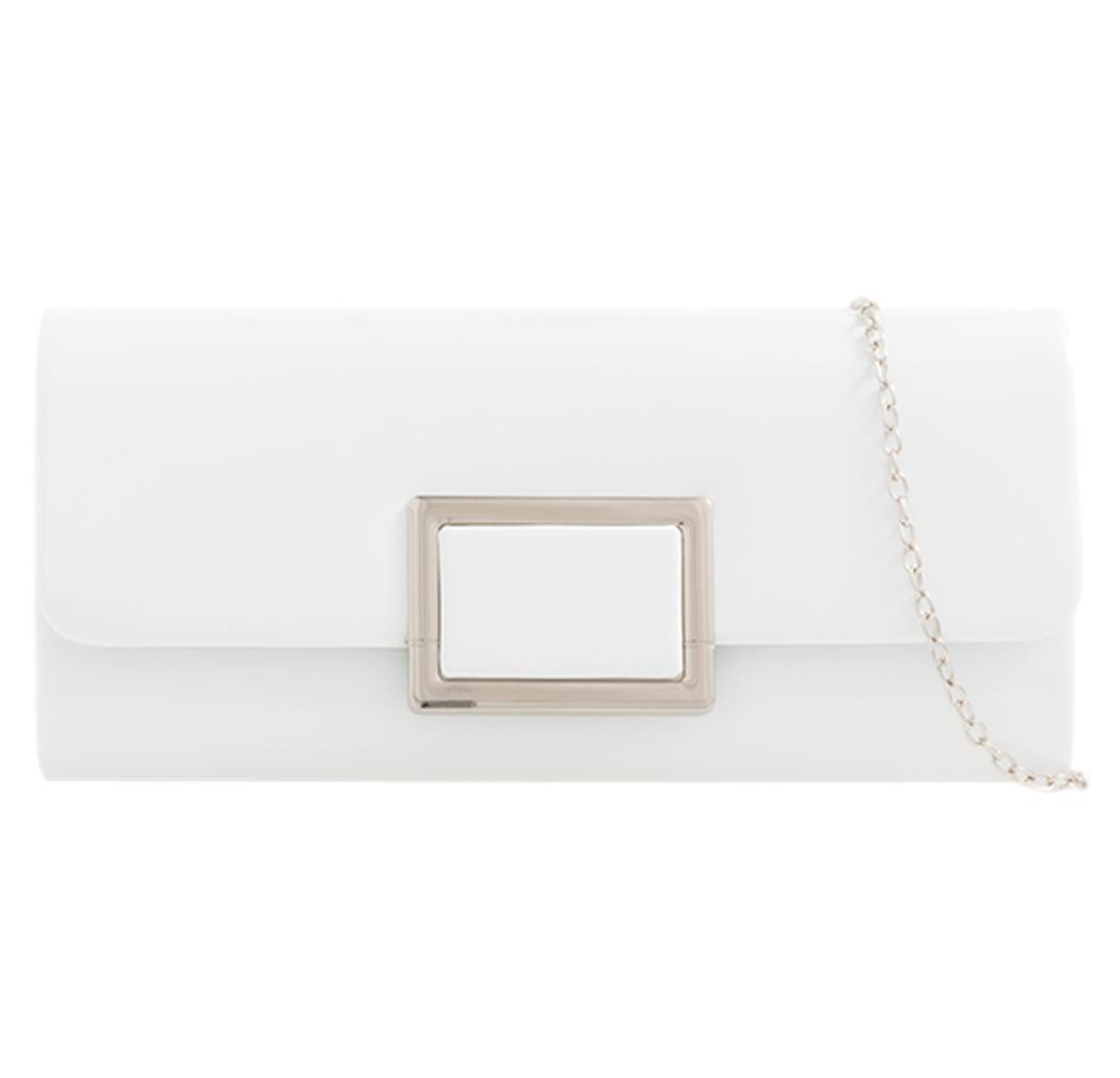 Clutch Bag Designer Patent Glossy Faux Leather Plain Envelope Evening Ladies