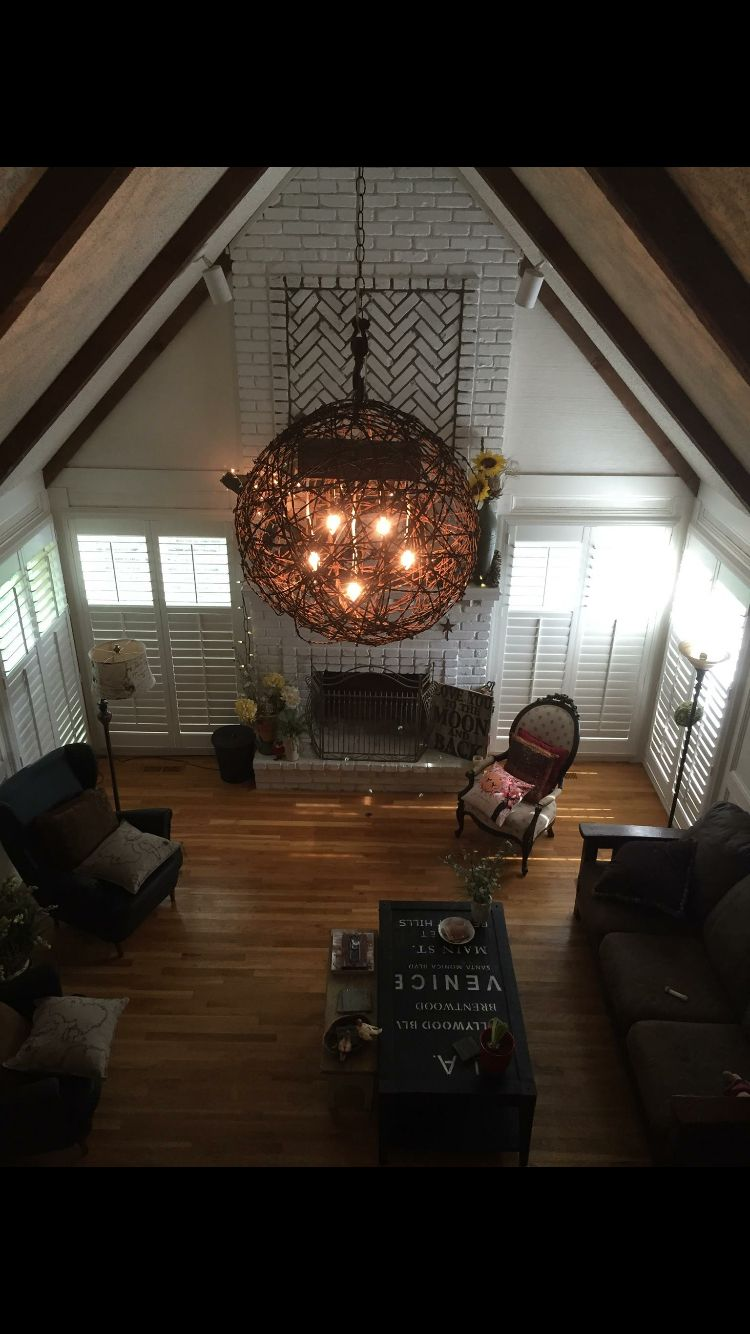 Barbed Wire Ball Light In My Great Room Got The West House Wiring Lights Series Bottoms Lighting Artist Vintage Edison Put It Together Kc
