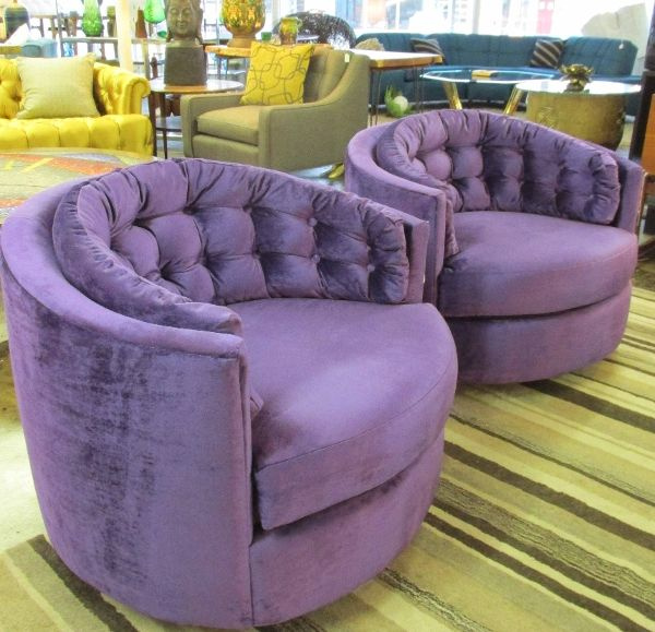 Astounding Amazing Pair Of 1960S Tufted Back Swivel Tub Chairs With New Alphanode Cool Chair Designs And Ideas Alphanodeonline
