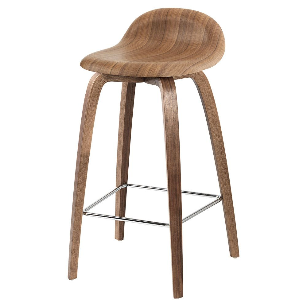 3d Counter Stool American Walnut Wood Base Counter Stools