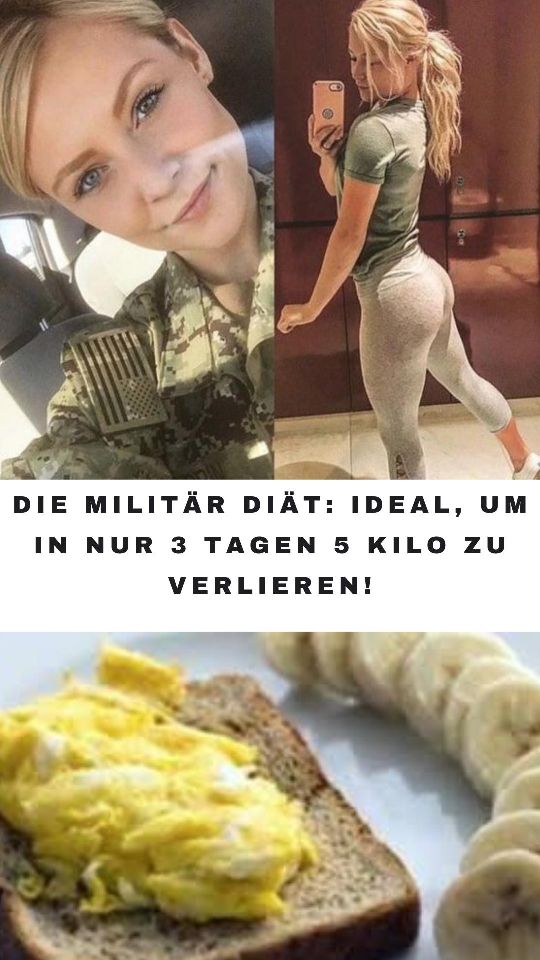 4 Kilo in 3 Tagen Militärdiät verlieren
