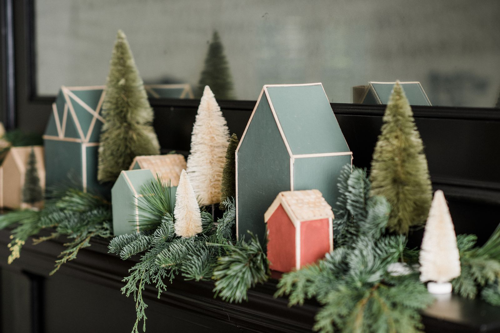These Free Joanna Gaines's DIY Christmas Village Templates Are The Cutest Way To Decorate Your Mantel This Season