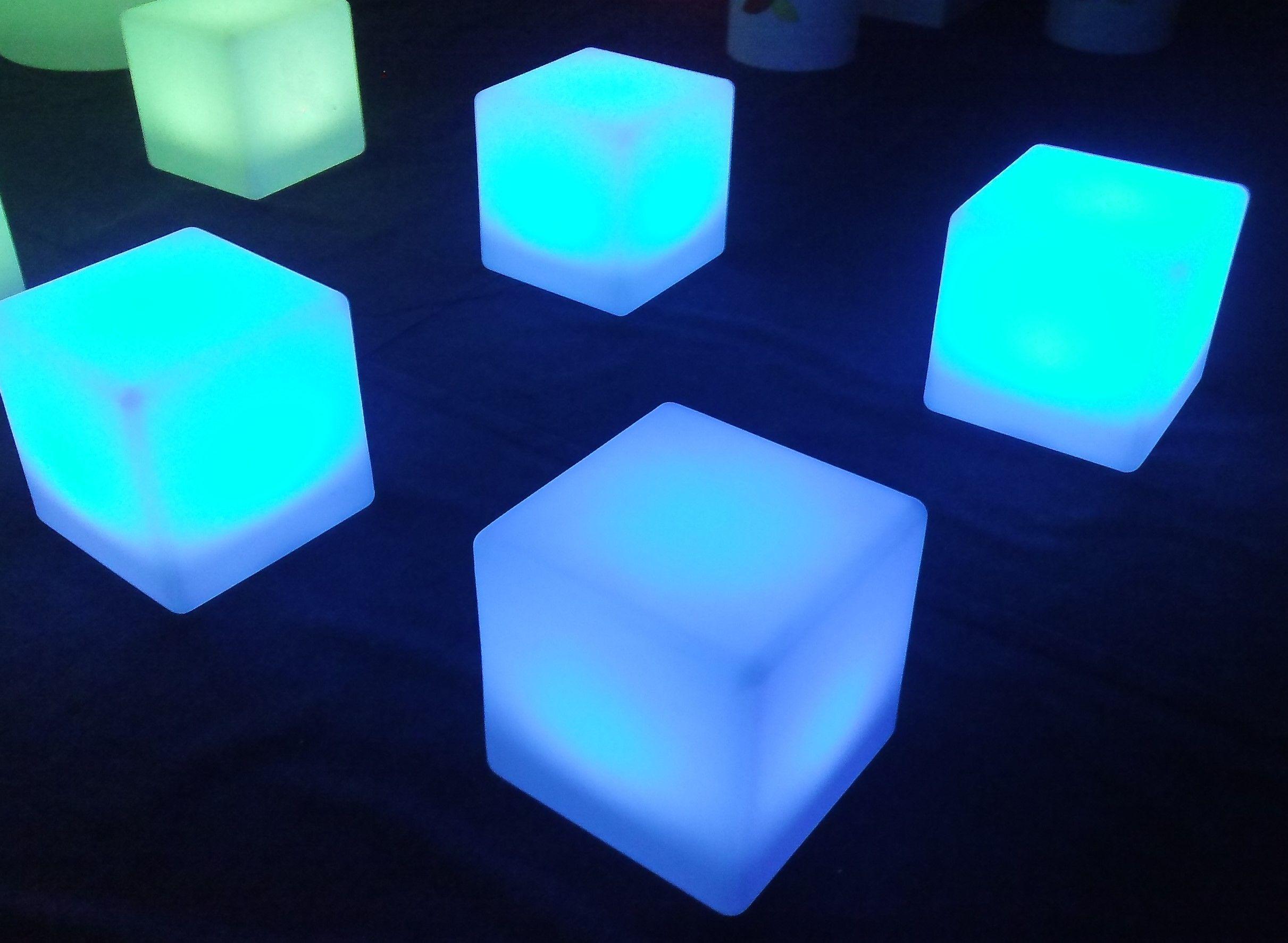 LED Furniture Hire, LED Bar Hire,LED Cube Hire, LED Cube Seats And