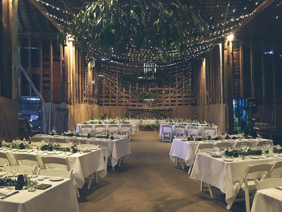 Barn wedding venue Brickendon Tasmania