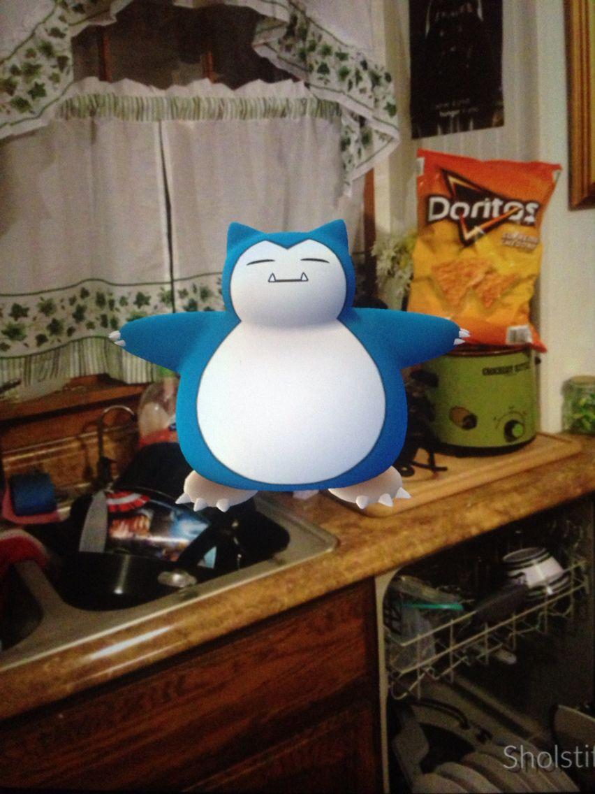 This Snorlax is trying to take my Doritos. #pokemongo