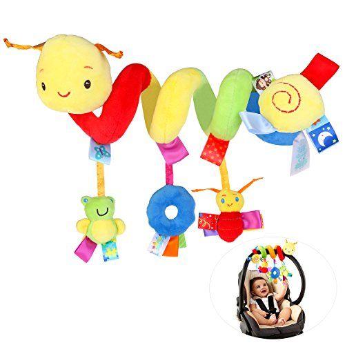 Baby Crib Cot Pram Hanging Rattles Spiral Stroller Car Seat Pushchair Toy
