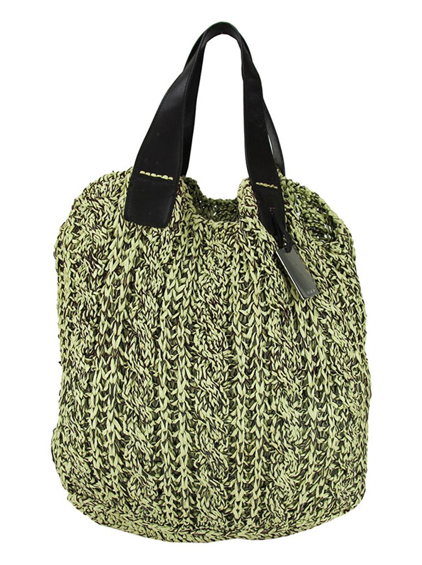 Bolsa de croche verde musgo