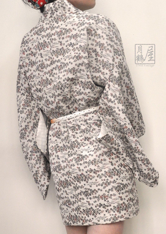 Japanese Kimono Jacket Haori/ Vintage Authentic Woven Thick Komon ...