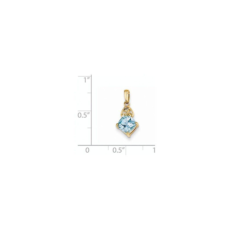 K ct yellow gold prong set diamond u light swiss blue topaz