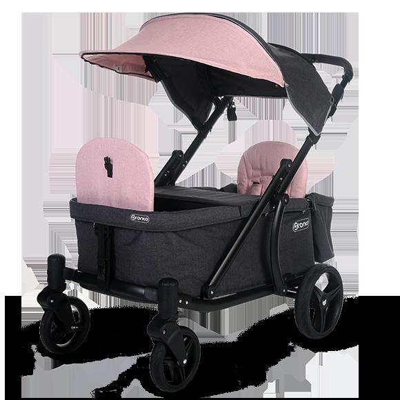 Pronto One Stroller Pink with black frame Starter