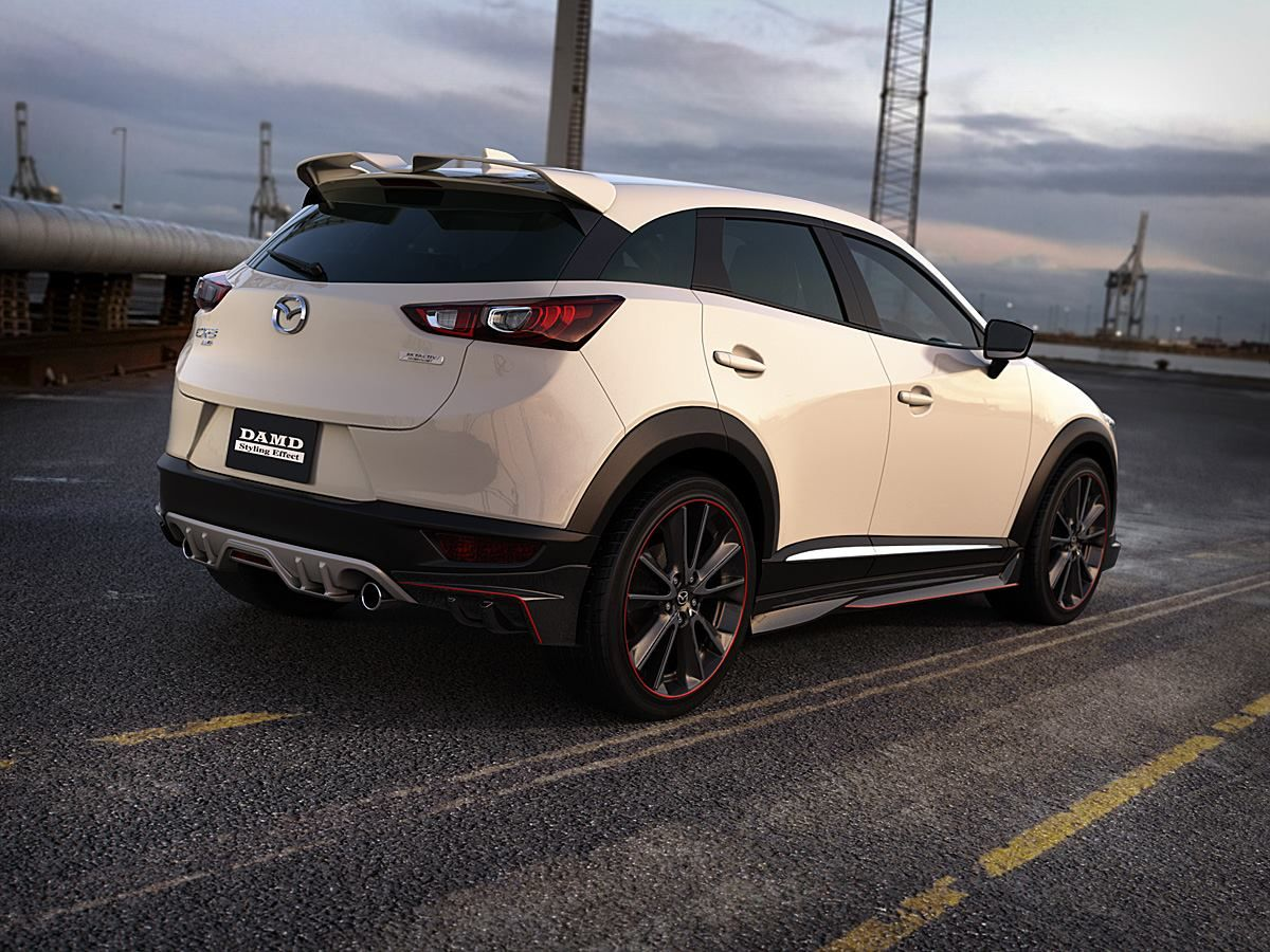 mazda cx-3 gets aggressive body kit from damd, looks like nfs