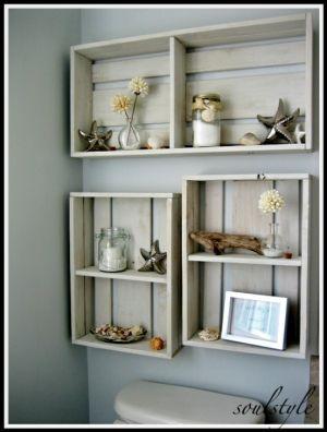 Seaside Theme Bathroom Box Shelves Decor Home Decor Home Diy